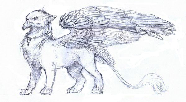 Рисунок мистического существа поэтапно
